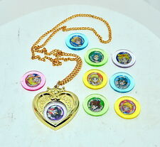 Sailor Moon heart compact locket pendant necklace Medallions Bandai 1994