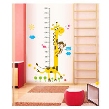 Wall Sticker Child Height Chart home Decor Cartoon Giraffe Height Ruler Sticker