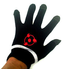 Anime Naruto Sharingan Cosplay Cotton Knitted Gloves Full Touch Screen Mittens