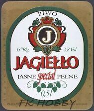 Poland Brewery Pokrówka Jagiełło Beer Label Bieretikett Cerveza pk15.1
