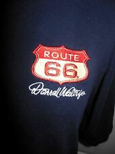 Route 66 Darrell Waltrip Embroidery Badge Front NASCAR Back Navy T-shirt Size XL