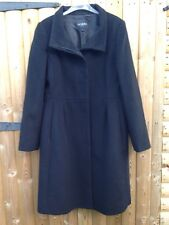 Hobbs London New Wool & Cashmere Black Dolly Coat Size 12