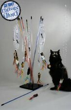 "Vee Enterprises PURRFECT GO-FUR-IT CAT TOY 32"" Clear Wand Teaser COLORS VARY"
