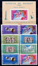 Paraguay 1966 Space Raumfahrt Weltraum 1511-1518 + Block 78 ** MNH