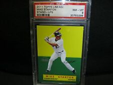 2011 TOPPS Lineage Stand-ups  MIKE STANTON PSA 8 NM-MT