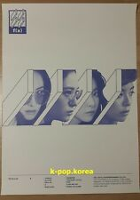 "f(x) ""4 WALLS"" Official Poster White Ver. 4th Album F(X) Tube Case Unfolded"