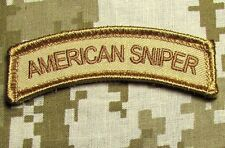 AMERICAN SNIPER TAB ARMY USA ISAF DESERT VELCRO® BRAND FASTENER MORALE PATCH