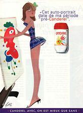 Publicité 1996  Sucre 0% allégé CANDEREL  ( KIRAZ )
