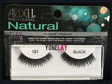 ARDELL Natural 131 Black False Eyelashes Fake Eye Lashes Invisiband Fashion
