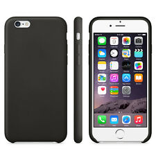 "COQUE POUR IPHONE 6S (4,7"") APPLE TPU NOIR SIMPLE STYLE CUIR SOUPLE BLACK CASE"