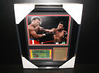 Muhammad Ali The Rumble in the jungle George Foreman 8x10 PHOTO Framed Ticket
