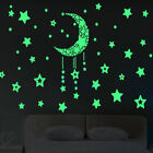 HOT Glow In The Dark Wall Stickers Home Bedroom Decor Luminescent Moon and Stars
