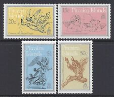 1982 PITCAIRN ISLANDS CHRISTMAS SET OF 4 FINE MINT MUH/MNH