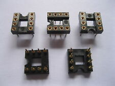 60 pcs IC Socket Adapter Gold Plated 2.54mm 8 PIN Round DIP High Quality 7.62mm