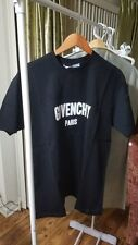 GIVENCHY Columbian-Fit(OVERSIZED -FIT) Destroyed Logo T-Shirt, Black, SIZE L