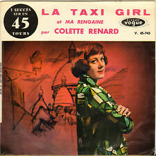 "COLETTE RENARD ""LA TAXI GIRL"" 60'S SP VOGUE 45-743"