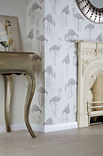 252604 Neutral Arthouse Lagoon Flamingo Vintage Luxury Vinyl Designer Wallpaper