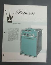 Vintage PRINCESS Model 1400 flyer oven stove marine  galley apartment LA