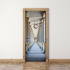 Door Mural Passage surrounded by a colonnade - Self Adhesive Fabric Wall Sticker