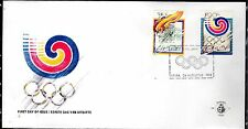 Dutch Antilles / Aruba - 1988 Olympic games - Mi. 49-50 clean unaddressed FDC