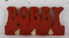 wooden coat pegs hooks/ hangers personalised childrens bedroom names painted,