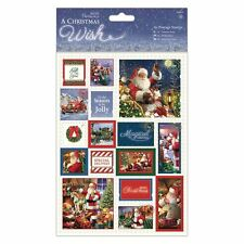 Papermania a christmas wish A5 timbres fabrication carte topper embellissements