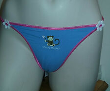 NEW La Senza Cheeky Monkey Daisy Thong Blue - 3 Pack - Size 8