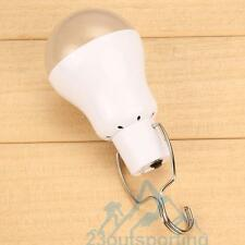 Rechargeable USB LED Bulb Lamp Outdoor Lighting Camp Tent Fishing Light W/ Hook