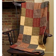New Primitive Country Homespun REBECCA'S PATCHWORK Quilt Blanket Throw