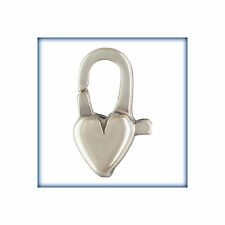 5PCS Sterling Silver Clasp, 12mm Silver Heart Lobster, .925 Heart Lobsters