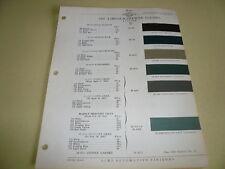 1937 Lincoln-Zephyr ACME Proxlin Color Chip Paint Sample