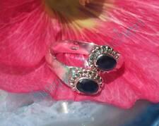 Ring Sterling Silber 925 mit zwei Saphir indisch blau - Stein des September