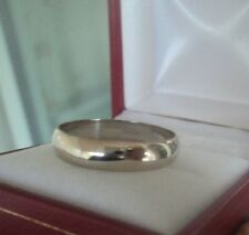 Vintage 9ct White Gold Wedding Band Ring c.1990s  -  size  Y