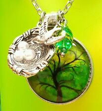 ��TREE of LIFE PENDANT NECKLACE �� BIRTHDAY GIFT  for MOM �� BIRD NEST CHARM NEW