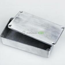 Aluminum 1590B Style Effects Pedal Stomp Box Enclosure for Guitar Silver