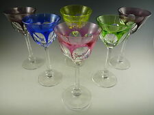 MOSER Crystal - LADY HAMILTON Cut - Set of 6 Hock Wine Glasses - Cut to Clear