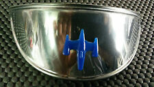 Vespa or Lambretta Chrome Headlamp Headlight Peak with Blue Gem