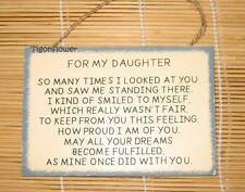 Wood Sign Words Mother For My Daughter Proud Love Inspirational