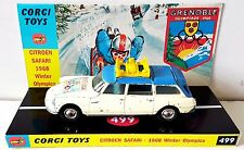 1960s CORGI 499 CITROEN SAFARI 1968 WINTER OLYMPICS Diecast Car & Custom Display