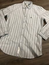 Diesel Gray Striped Longsleeve Button Front Men's Shirt Size Small