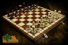 PEARL DELUXE - 35cm / 14in Handcrafted Wooden Chess Set