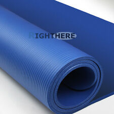 YOGA MAT PILATES FITNESS EXERCISE GYM 1CM THICK 10MM THICKENED BLUE
