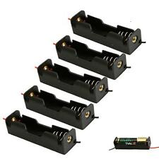 "Lot 5pcs New 1 AA 2A Battery 1.5V Holder Box Case with 6"" Leads Black"