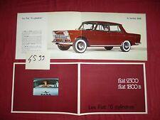 N°4599 / FIAT : catalogue  en français berline 2300 et 1800 B      1963 environ