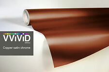 VVIVID8 copper chrome satin matte car wrap vinyl 100ft x5ft conform stretch 3MIL