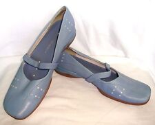 Sweet Nine West Sky Blue Leather Mary Jane Shoes, Sz 8.5M, Tanya Tucker Estate