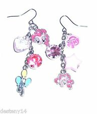 My Little Pony Pinkie Pie Charms Mismatched Drop Earrings Pink Hasbro MLP Stars