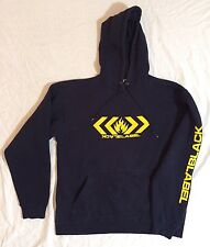 90S BLACK LABEL SKATEBOARDS HOODIE NAVY BLUE SZ M VTG SUPREME