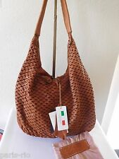 New ERRELLEVENTIDUE RL22 Slouchy Hobo Leather Shoulder Bag with Laser Cut Front!