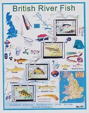 GB 1983.A4 app DESIGN SHEET BRITISH RIVER FISH  & FREE GIFTS (87)